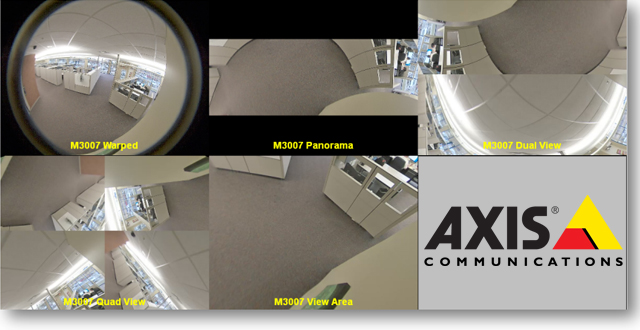 Axis Panoramic Camera Views