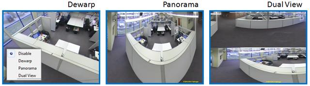 Dewarp, Panorama, and Dual View