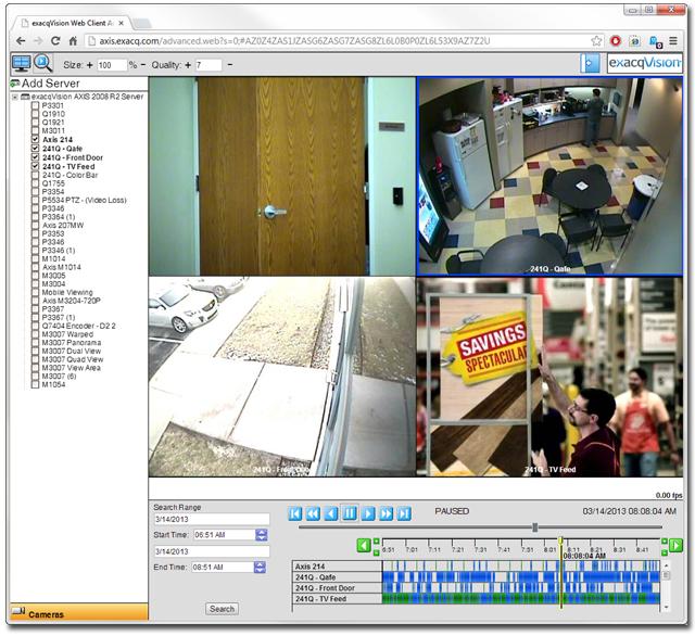 exacqVision Web Service