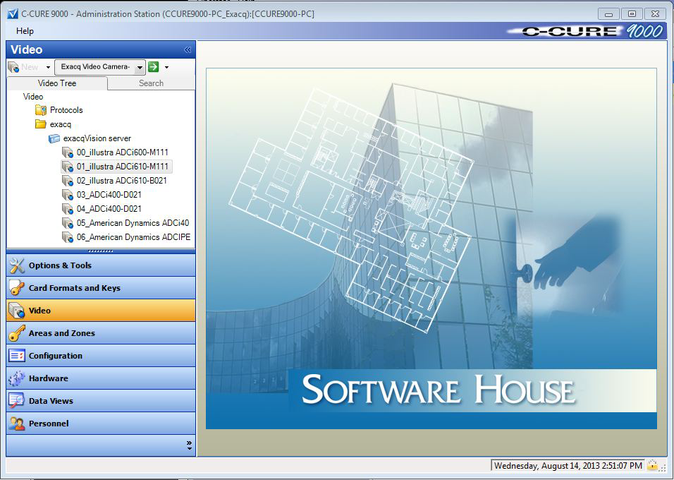 software house now integrates with exacqvision rh blog tycosp com Ccure Dealers Ccure 800 8000