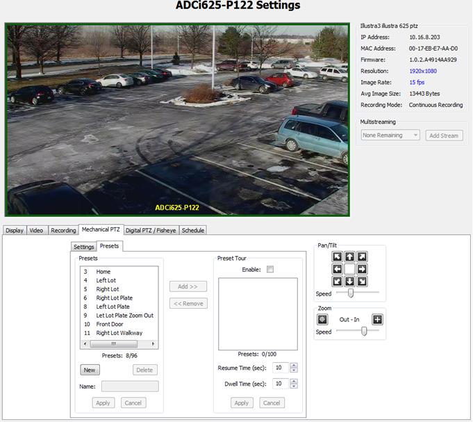 Camera Configuration