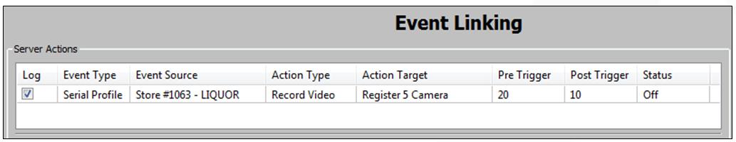 Serial Event Trigger