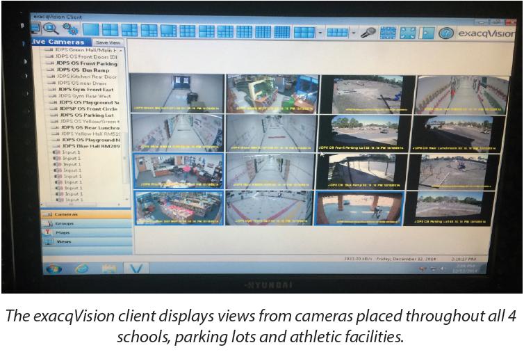 exacqVision VMS at Jeff Davis Schools